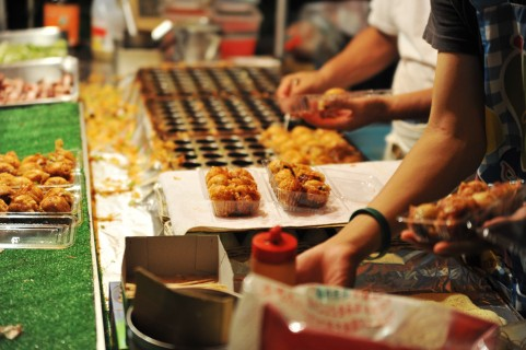 Japanese night marcket food