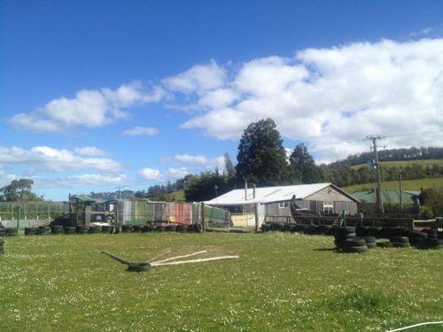都会と真逆!タスマニアのシグネットの農場に泊まってます。