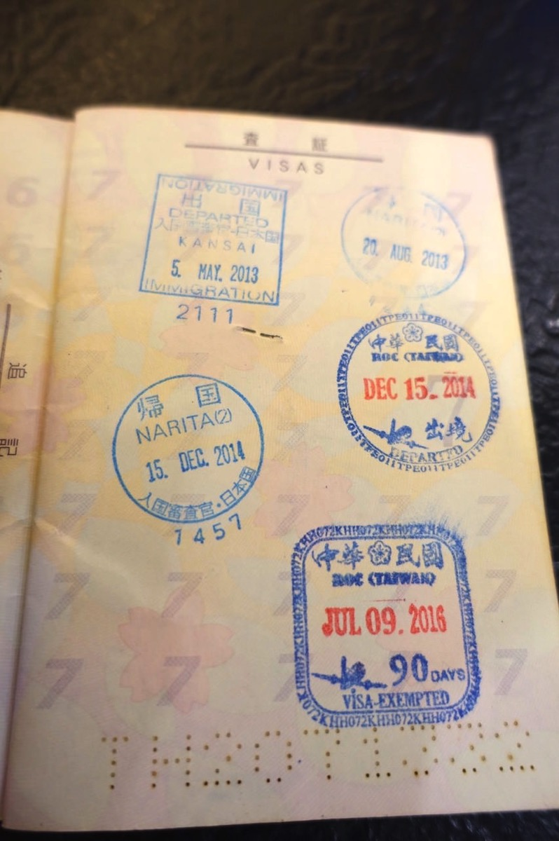 Passport stamps 007