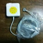 Mac Book Airの電源ケーブル、MagSafe 2 Power Adapter 45Wのバルク品を購入して、1週間経ったのでレビューします