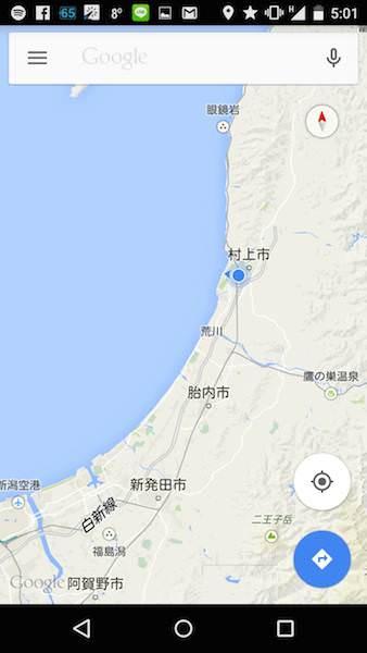 鶴岡までの地図01