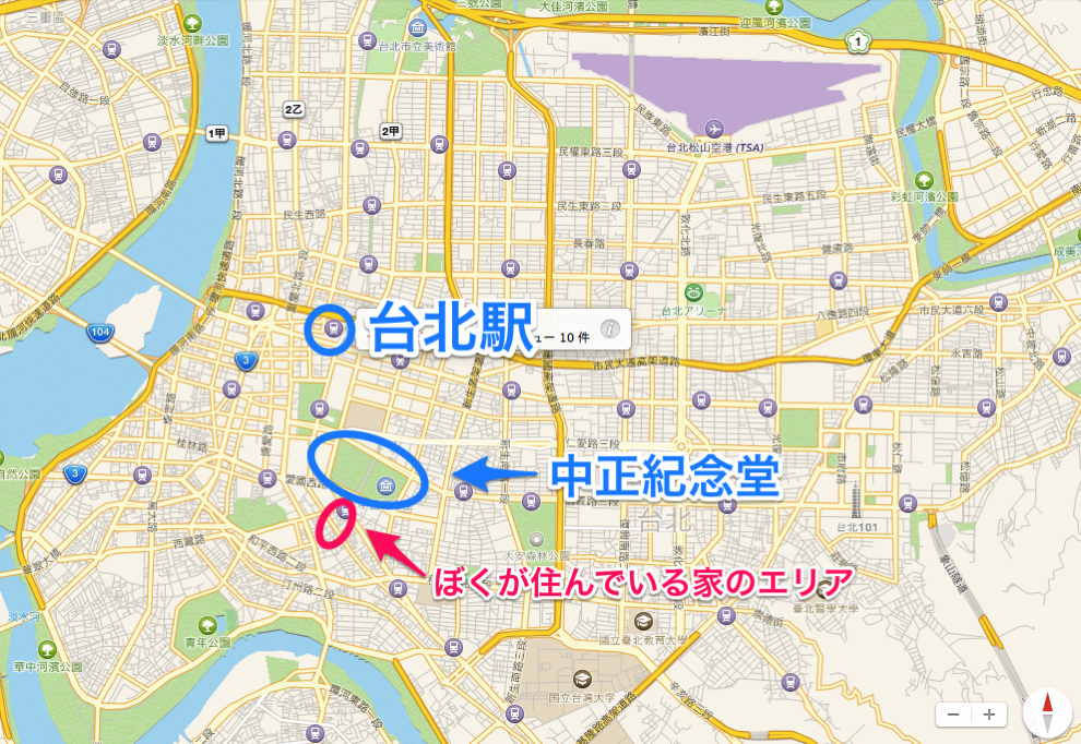 台北市内地図