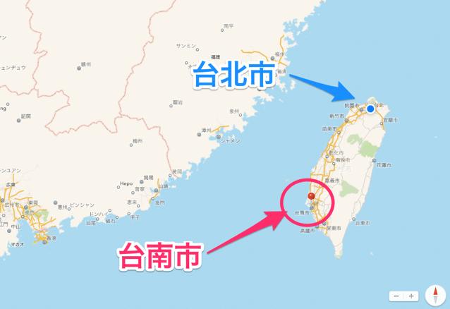 Taiwan tainan map