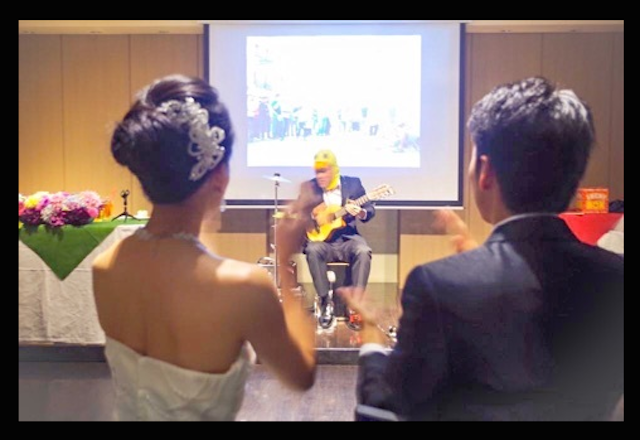 Tony san busking wedding 01