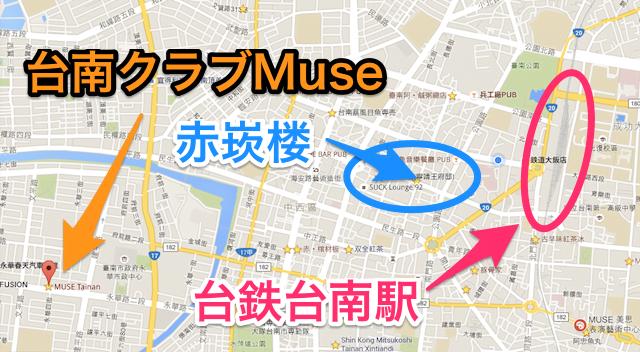 Tainan muse map