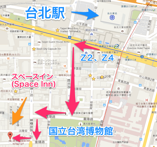 Space inn taipei map