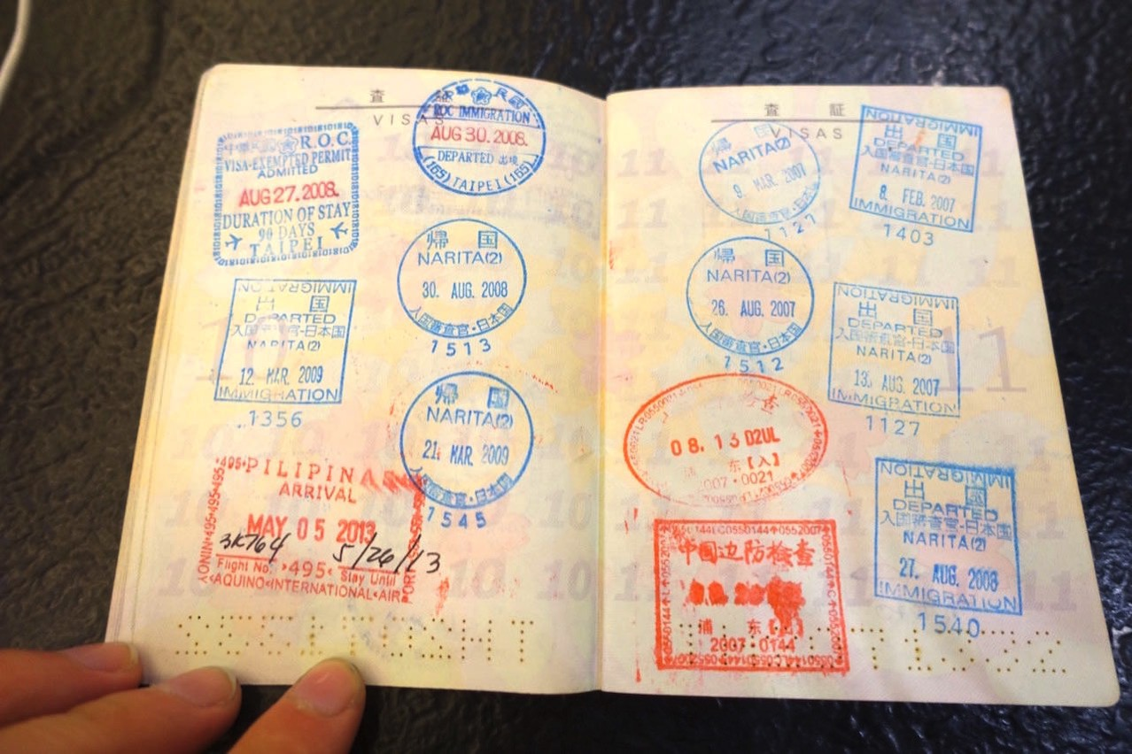 Passport stamps 010