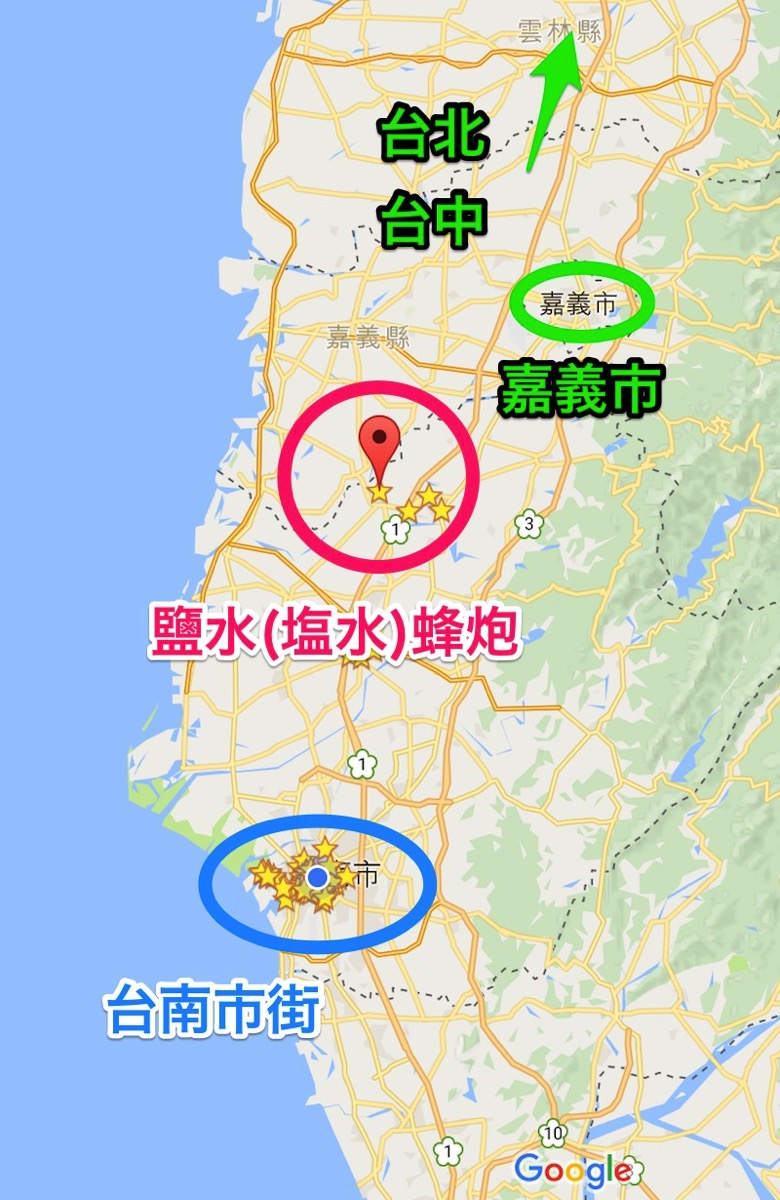 Map tainan ensui