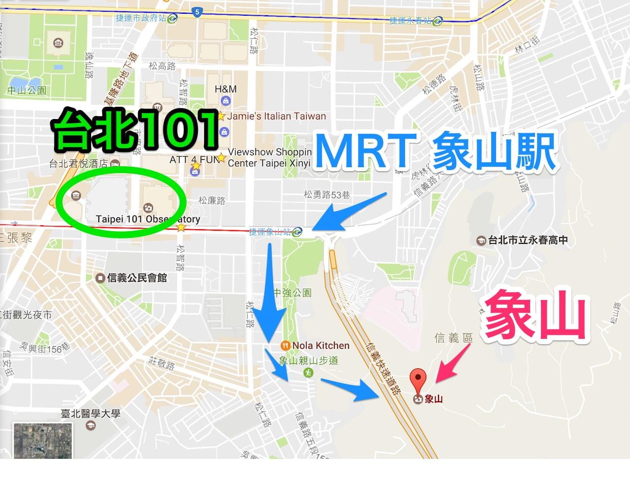 Taipei zouyama map