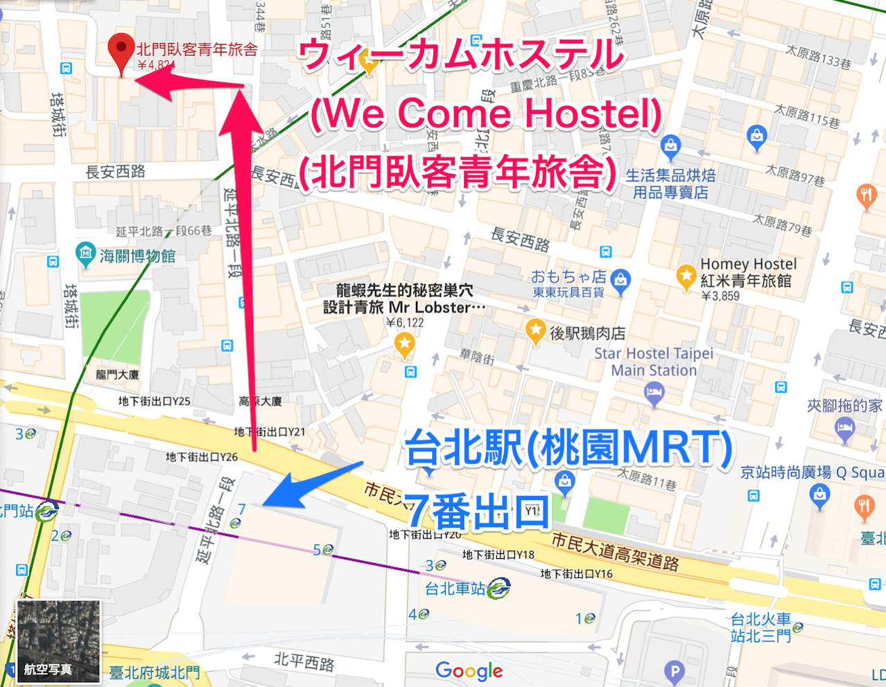 Wecomehostel map