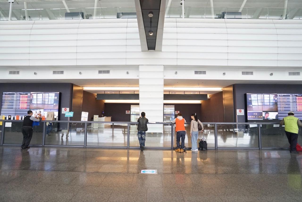 桃園空港第1ターミナルの出迎えゲート