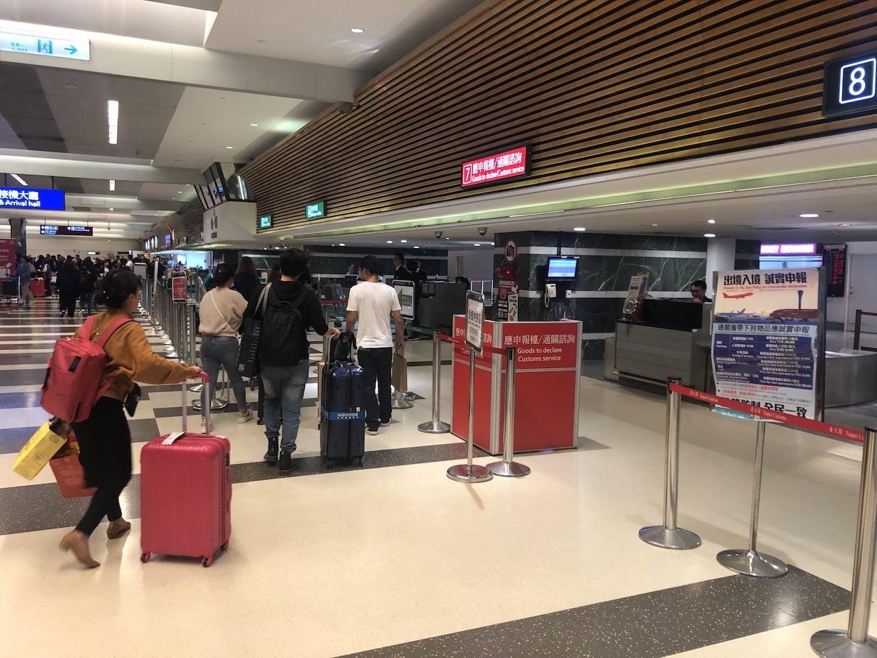 桃園空港第一ターミナルの荷物ピックアップ