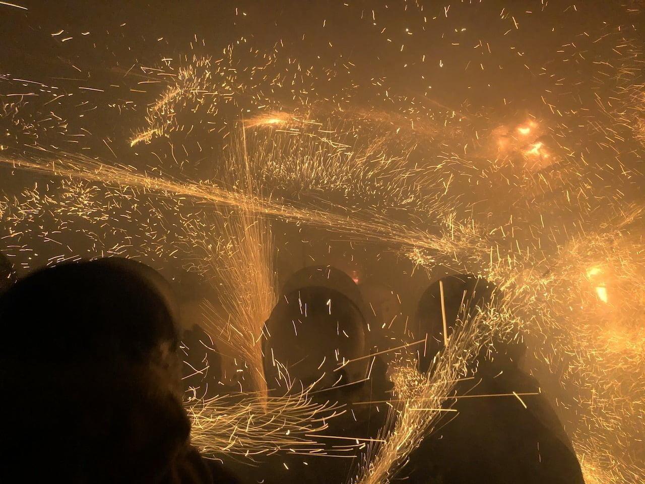 鹽水蜂炮(塩水ロケット花火祭り)の2020年の参加写真