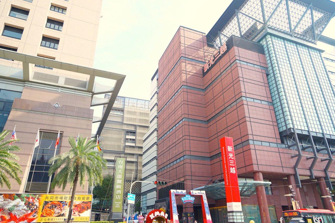 高雄空港の台南行きのバス乗り場の小西門